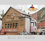 Bar Mills 602 HO Scale STAR CORNER DINER Laser Cut Kit