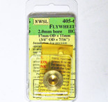 NWSL #405-6 Brass Flywheel for 2.0mm Shaft 17mmX11mm OD
