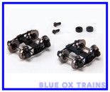 Blackstone Models B370109 D&RGW Arch Bar Tank Car Trucks (Black)