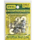 "NWSL HO Athearn Half-Axle 36""/110 Wheelsets 7143-4"