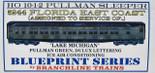 Branchline HO Florida East Coast 10-1-2 Pullman Lake Michigan FEC Kit 5244