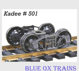 "Kadee 501 HO Scale Arch Bar Trucks 33'"" Ribbed Back Wheel Sets"