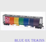 Intermountain 42500SR HO Canadian National CN Circus Rainbow Cylindrical Hopper (Blue Ox Trains Special Run)
