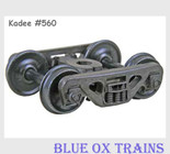 Kadee 560 HO Scale ACL Barber S-2 Roller Bearing Trucks