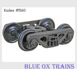 Kadee 560 HO Scale ACL Barber S-2 Roller Bearing Trucks