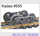 KADEE 555 HO Scale 100 Ton Roller Bearing Sprung Equalized Trucks