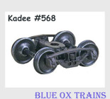 KADEE 568 HO Scale National Type B-1 50-Ton Friction Bearing Trucks