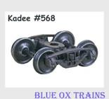 KADEE 568 HO Scale National Type B-1 50-Ton Friction Bearing Trucks