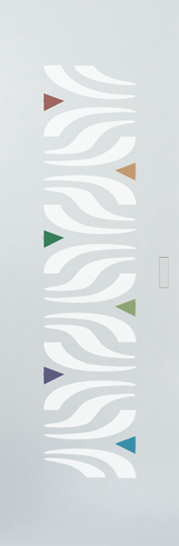 Syntesis® Flush Glass Pocket Door System Patterned ALA