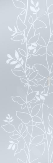 Syntesis® Flush Glass Pocket Door System Patterned OPALE
