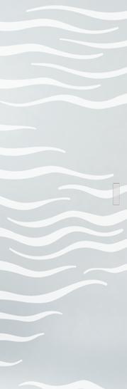 Syntesis® Flush Glass Pocket Door System Patterned ALGA