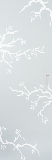 Syntesis® Flush Glass Pocket Door System Patterned ROSAPESCO