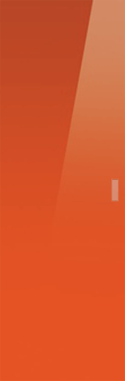 Syntesis® Flush  Glass Pocket Door System Coloured ORANGE (RAL 2001)