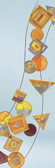 Classic Glass Pocket Door System Handpainted GEOMETRIE