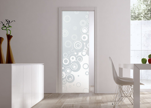 Classic Glass Pocket Door System Patterned STAMPE2