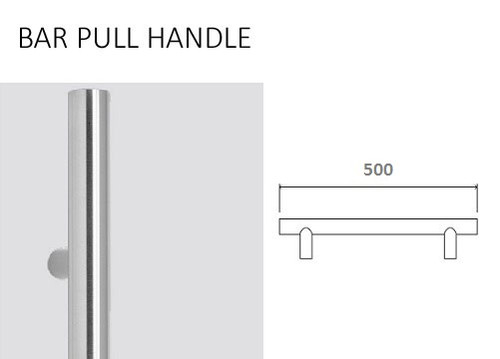 500MM STAINLESS STEEL BAR HANDLE