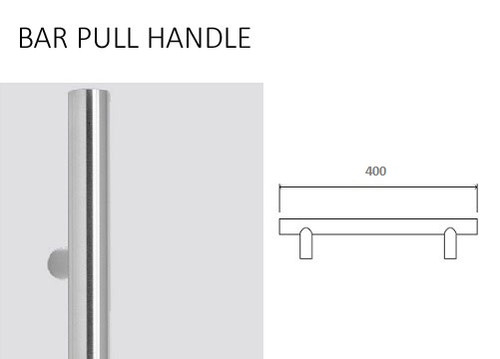 400MM STAINLESS STEEL BAR HANDLE