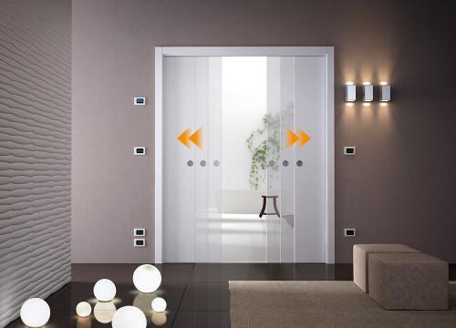 eclisse double sliding door kit. Black Bedroom Furniture Sets. Home Design Ideas