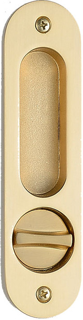 Eclisse Pocket Door Bathroom Lock  - Long Oval