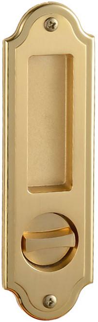Eclisse Pocket Door Bathroom Lock - Ornate