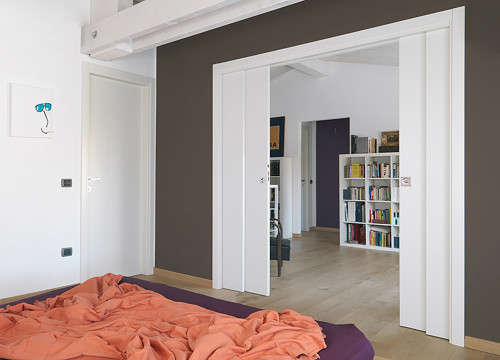 Create Multi Functional Spaces With A Double Telescopic Pocket Door System,  For Example A ...