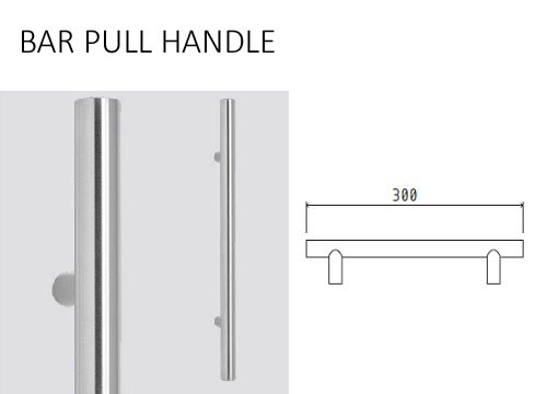 300MM STAINLESS STEEL BAR HANDLE