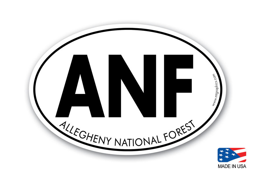 allegheny national forest sticker mountain graphics. Black Bedroom Furniture Sets. Home Design Ideas
