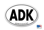 "ADK Sticker 4""x 6"" Oval"
