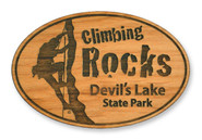 Wholesale Climbing Rocks Wooden Magnet