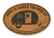 Wholesale Home Is Where You Park It Wooden Magnet