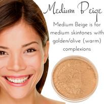 Medium Beige - Full Coverage Matte Mineral Foundation | Titanium-Free