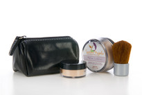 On-The-Go Quick Fix Makeup Kit with Kabuki Pouch | Portable | New!