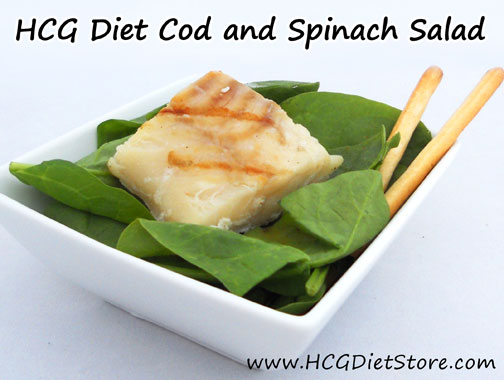 Perfect spinach salad for P2... This HCG recipe gives you a crisp salad with lemon flair!