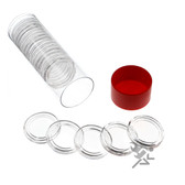 Red Capsule Tube & (20) A22 Air-Tite Direct Fit Coin Capsule Holders