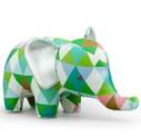Zuny Classic Elephant Kaleidoscope Diamond - Green/Blue/White