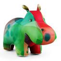 Zuny Classic Hippo Kaleidoscope Bubble - Colourful