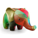 Zuny Classic Elephant Kaleidoscope Bubble - Red/Blue