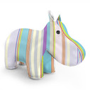Zuny Classic Hippo Kaleidoscope Stripe - Blue/Purple/Green