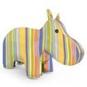 Zuny Classic Hippo Kaleidoscope Stripe - Blue/Orange/Yellow