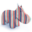 Zuny Classic Hippo Kaleidoscope Stripe - Blue/Red/Green