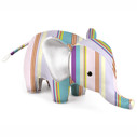 Zuny Classic Elephant Kaleidoscope Stripe - Blue/Purple/Green