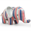 Zuny Classic Elephant Kaleidoscope Stripe - Blue/Red/Green