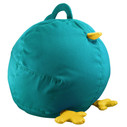 Zuny Small Pica Beanbag Cover - Turquoise/Yellow