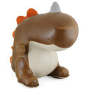 Bobo II the Dinosaur Bookend - Brown