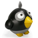 Cicci Crow Bookend - Black/Grey/Yellow