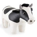 Classic Holstein Cow Bookend - Black/White