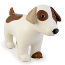 Classic Russell Terrier Bookend - White/Tan