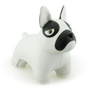 Classic French Bulldog Bookend - White