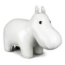 Classic Hippo Paperweight - White