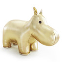 Classic Hippo Bookend - Gold